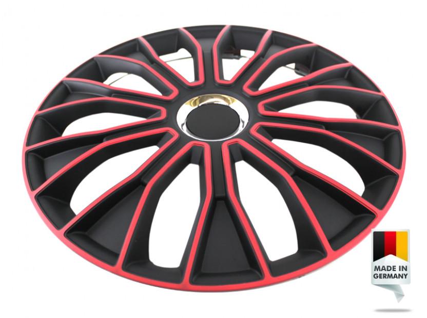 "Декоративни тасове PETEX 16"" Voltec pro black/red, 4 броя 5"