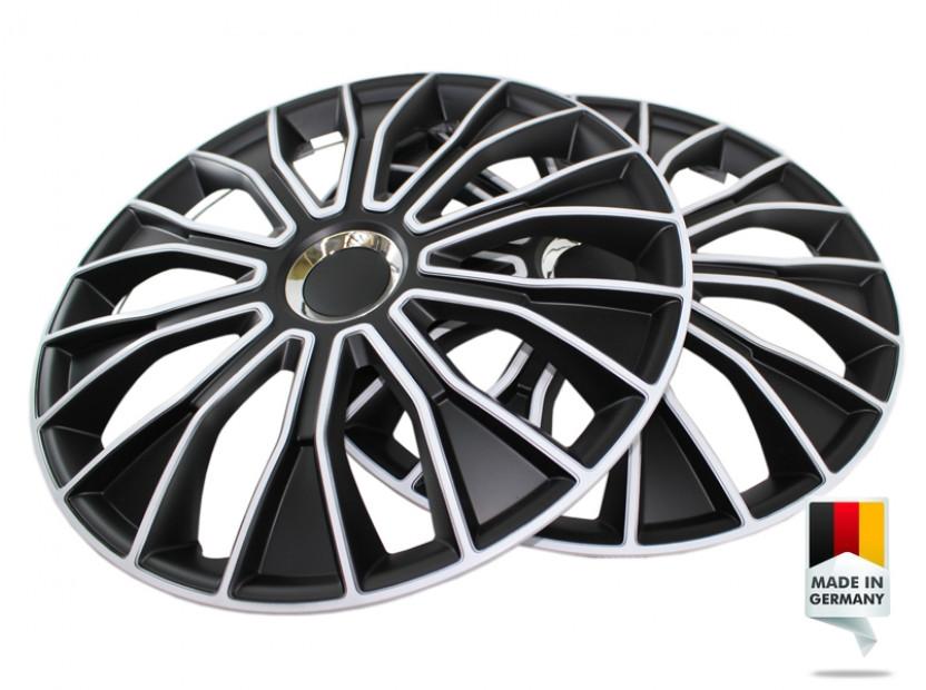 "Декоративни тасове PETEX 15"" Voltec pro black/white, 4 броя 7"