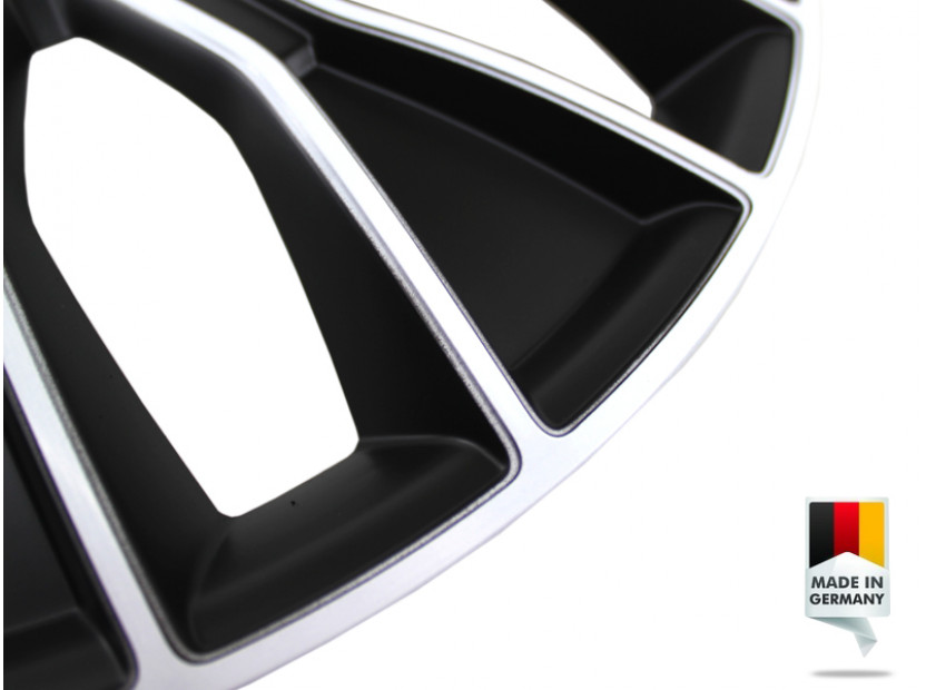"Декоративни тасове PETEX 15"" Voltec pro black/white, 4 броя 6"