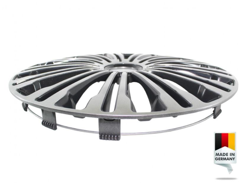 "Декоративни тасове PETEX 15"" Volante black/silver, 4 броя 3"