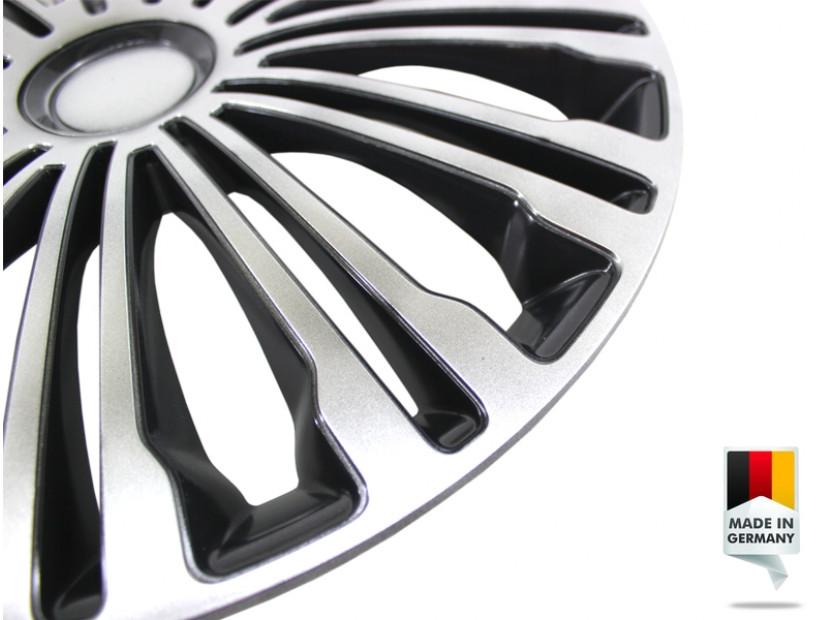 "Декоративни тасове PETEX 15"" Volante black/silver, 4 броя 4"