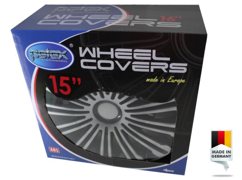 "Декоративни тасове PETEX 15"" Volante black/silver, 4 броя 6"