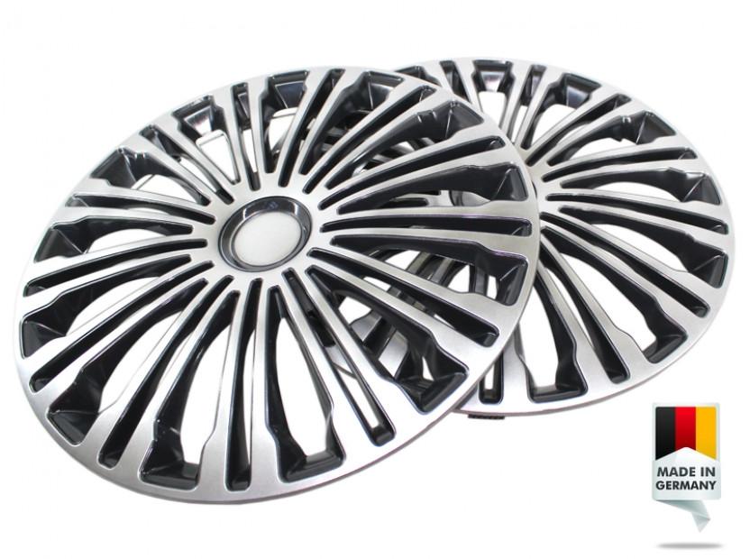 "Декоративни тасове PETEX 16"" Volante black/silver, 4 броя 4"