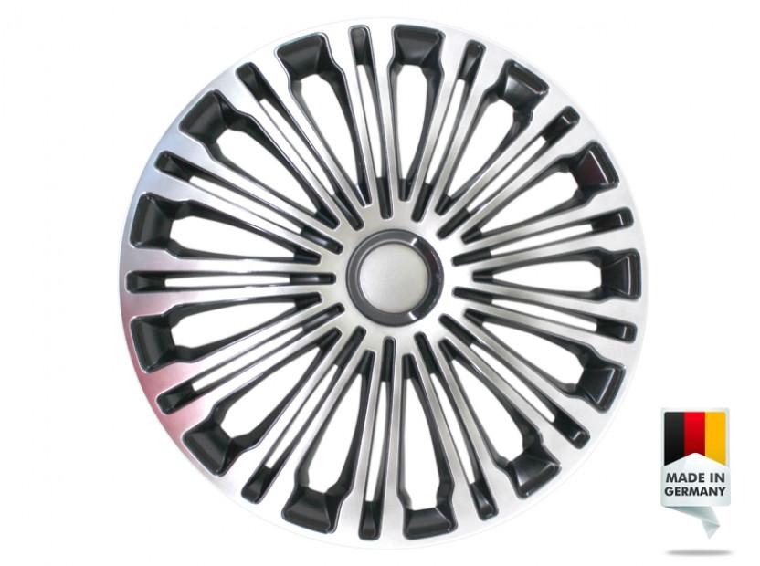 "Декоративни тасове PETEX 16"" Volante black/silver, 4 броя"
