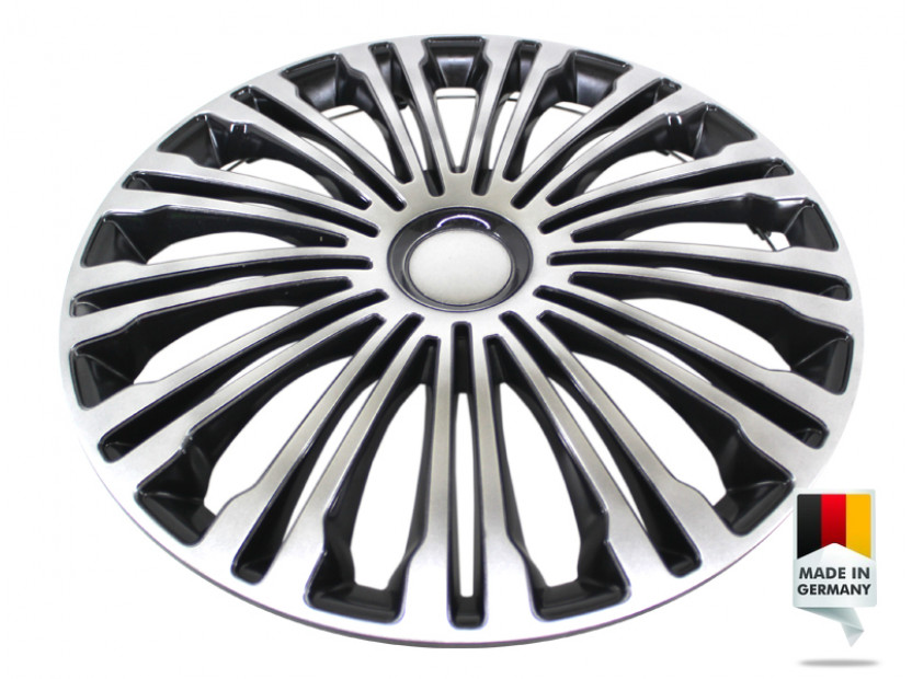 "Декоративни тасове PETEX 16"" Volante black/silver, 4 броя 2"