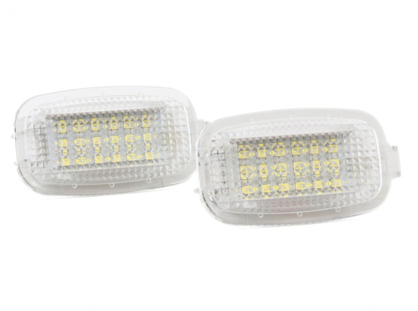 Комплект LED плафон за осветление под вратите за Mercedes W164,W169,W204,W212,W221,W245,W463,X164,C197,X204,C216,R230,W251,W639, ляв и десен