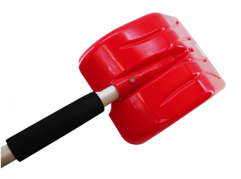 Лопата за сняг с телескопична дръжка Petex 77 см / 102 см  червена 2