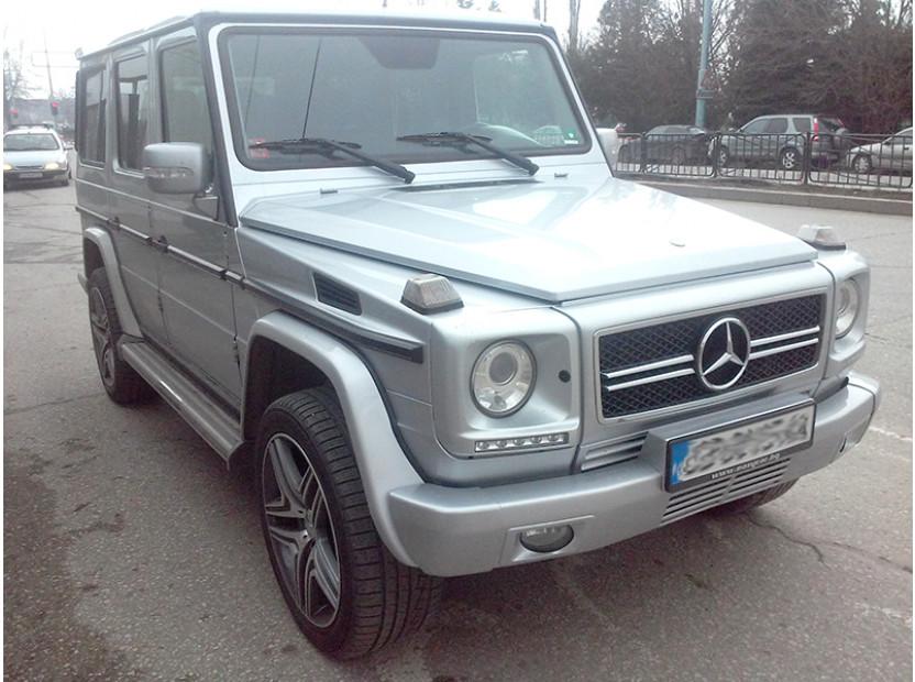 Хром/сива решетка тип AMG за Mercedes G класа W463 1989 => 3
