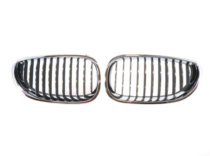 Бъбреци хром/черни за BMW серия 5 E60 седан/E61 комби 2003-2010