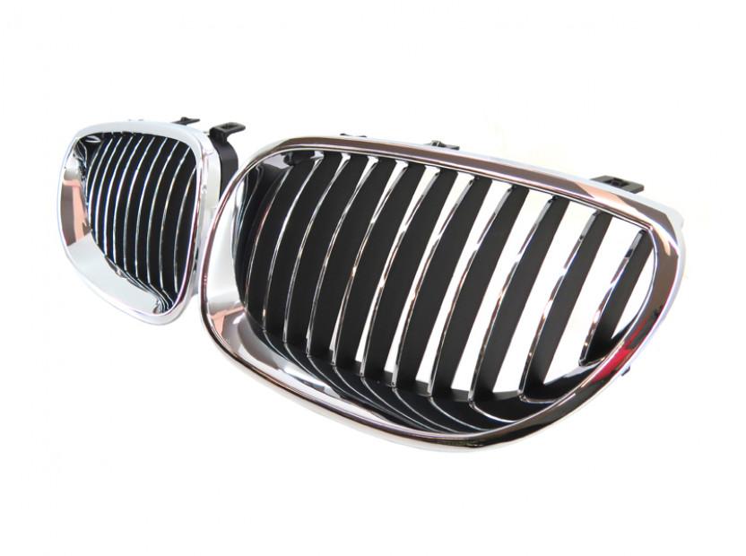 Бъбреци хром/черни за BMW серия 5 E60 седан/E61 комби 2003-2010 2