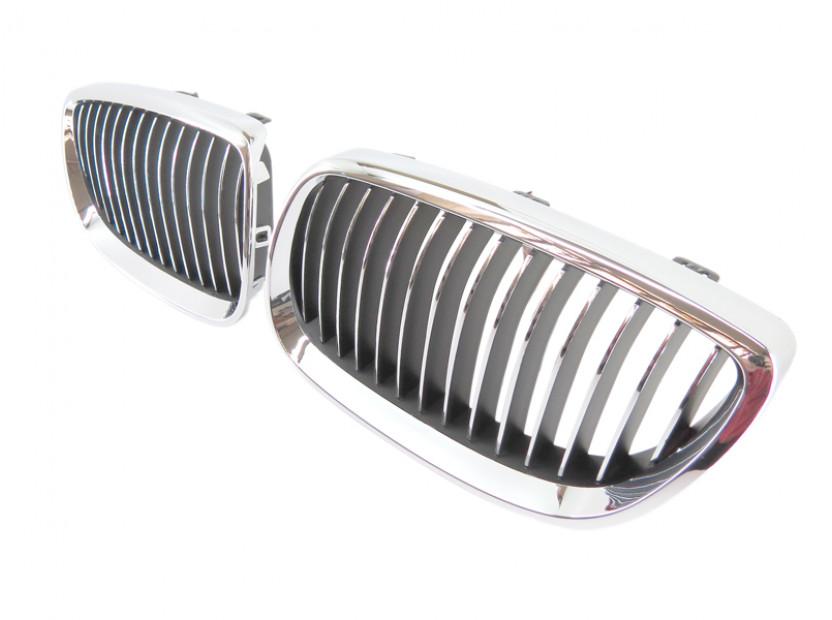 Бъбреци хром/черни за BMW серия 3 E92 купе, E93 кабрио 2006-2009 3