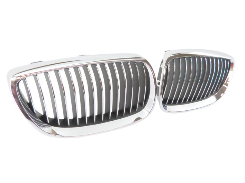 Бъбреци хром/черни за BMW серия 3 E92 купе, E93 кабрио 2006-2009 2