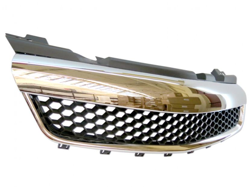 Хром/черна решетка без емблема тип пчелна пита за Opel Zafira 2005-2011 6