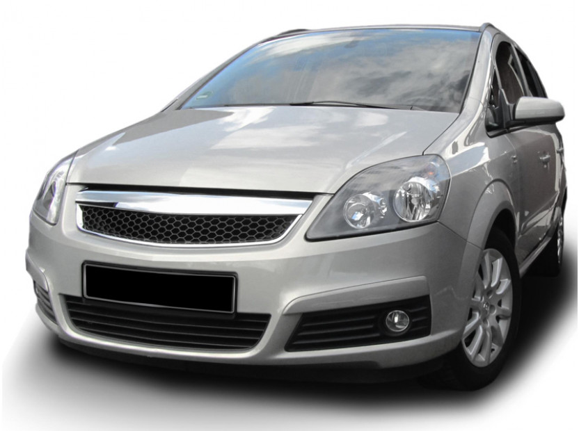 Хром/черна решетка без емблема тип пчелна пита за Opel Zafira 2005-2011 3