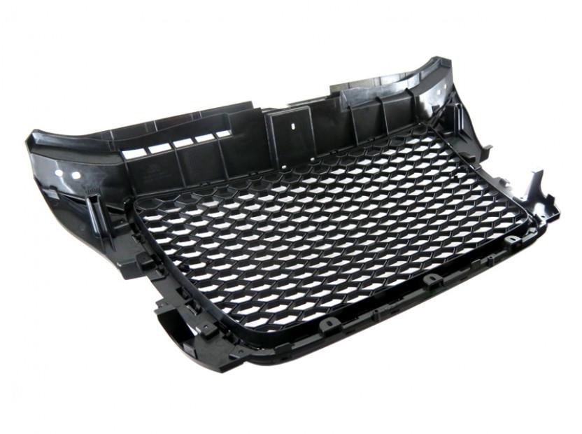 Черна решетка тип RS за Audi A3 2009-2011 без отвори за парктроник 8
