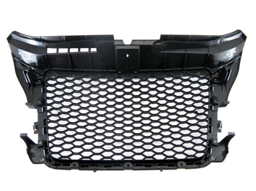 Черен лак решетка тип RS за Audi A3 хечбек, Sportback, кабрио 2009-2012 без отвори за парктроник 6