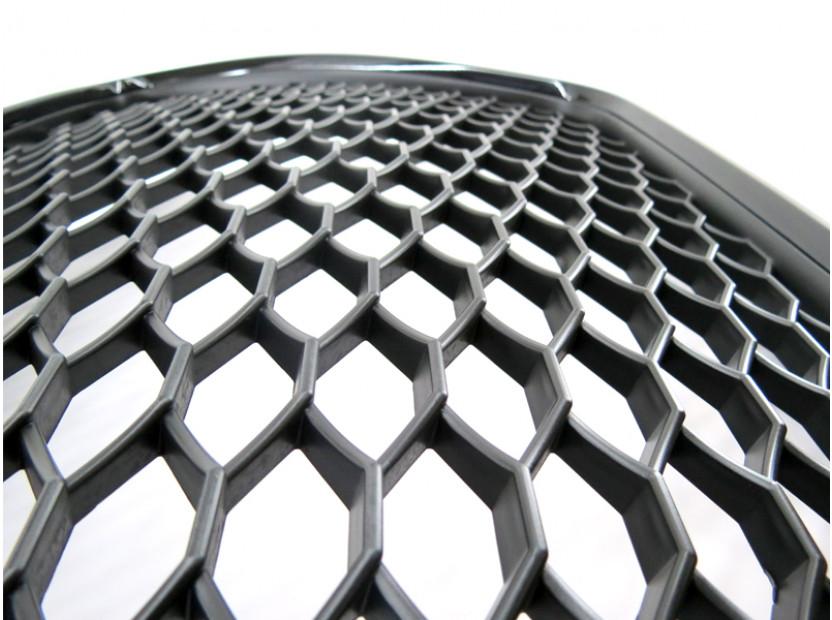 Черен лак решетка тип RS за Audi A3 хечбек, Sportback, кабрио 2009-2012 без отвори за парктроник 3