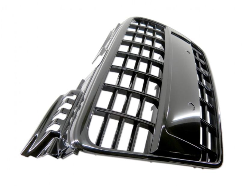Черен лак решетка без емблема тип S4 за Audi A4 B7 седан, комби 2004-2007 без отвори за парктроник, за стандартна предна броня 5