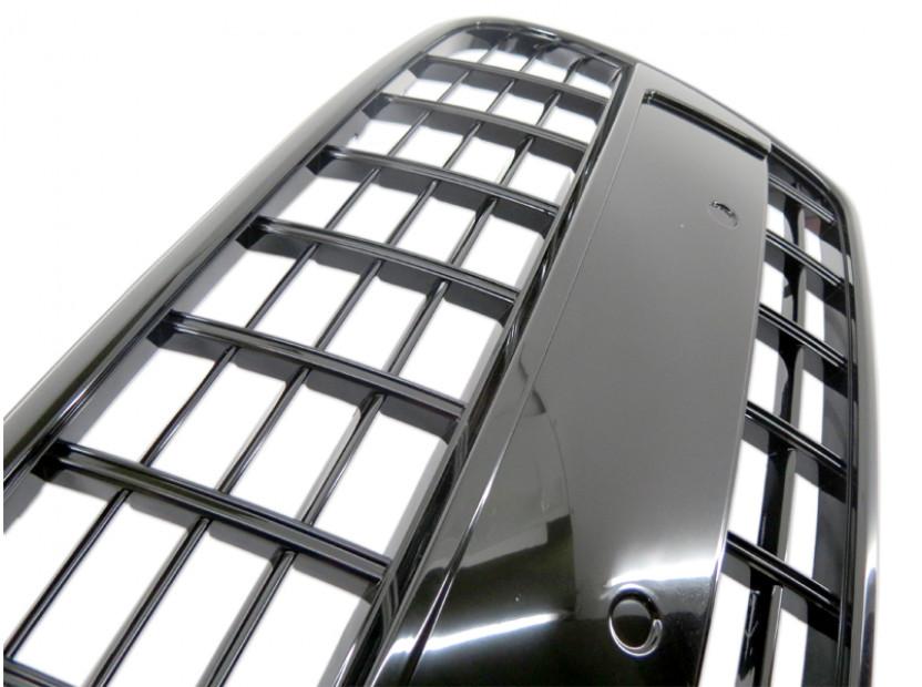 Черен лак решетка без емблема за Audi A4 2004-2007 тип S8 без отвори за парктроник, за стандартна предна броня 6