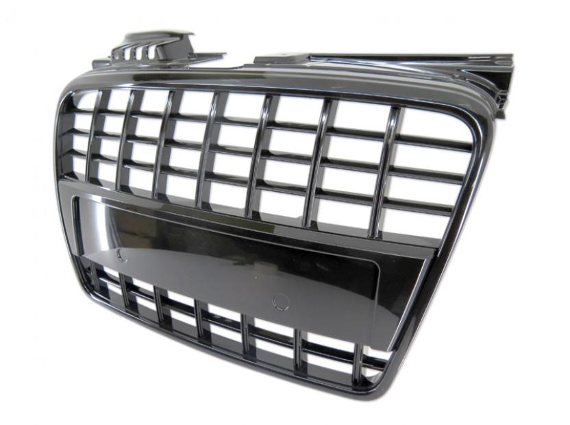Черен лак решетка без емблема за Audi A4 2004-2007 тип S8 без отвори за парктроник, за стандартна предна броня 2