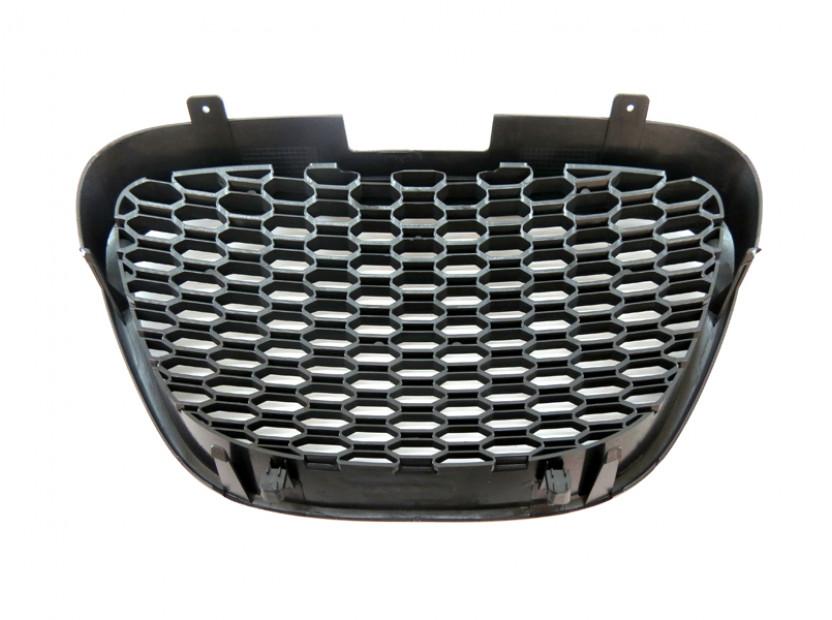Черна решетка без емблема тип пчелна пита за Seat Leon 2006-2009 6