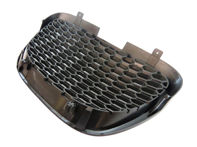 Черна решетка без емблема тип пчелна пита за Seat Leon 2006-2009 7
