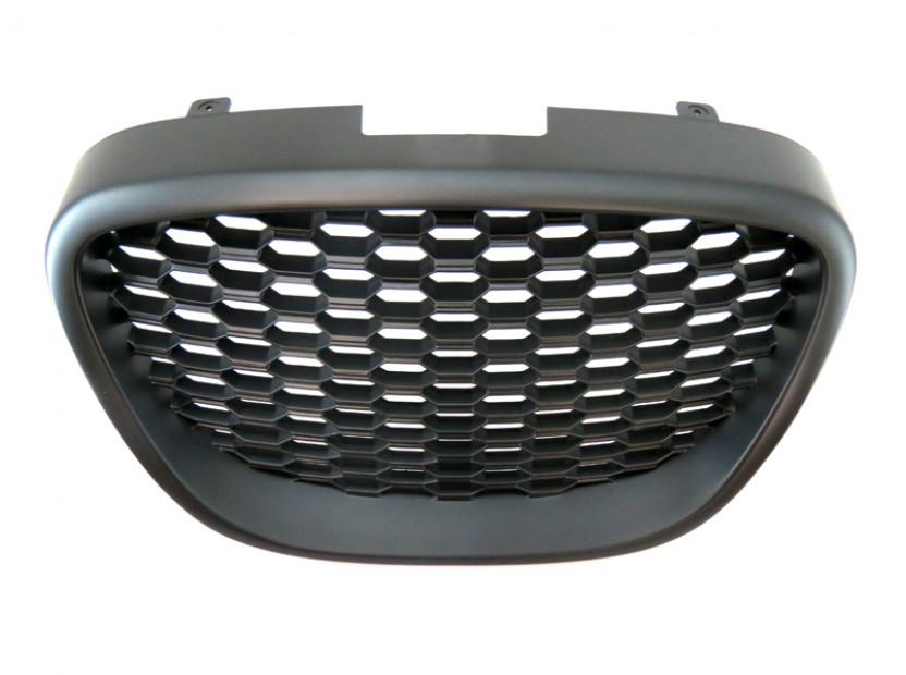 Черна решетка без емблема тип пчелна пита за Seat Leon 2006-2009 4