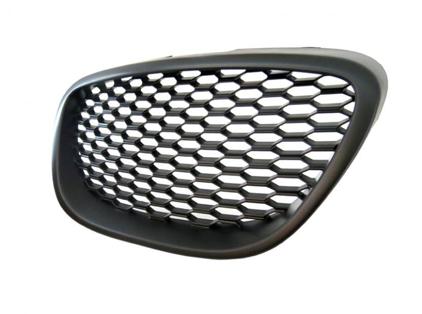 Черна решетка без емблема тип пчелна пита за Seat Leon 2006-2009 2