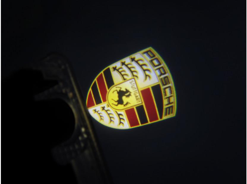 Лого проектoр  за директно вграждане за Porsche Cayenne 2002-2006 9