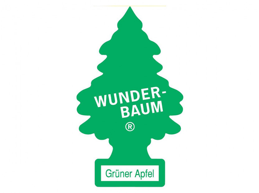Ароматизатор Wunder-Baum, серия  Борче, аромат зелена ябълка 3