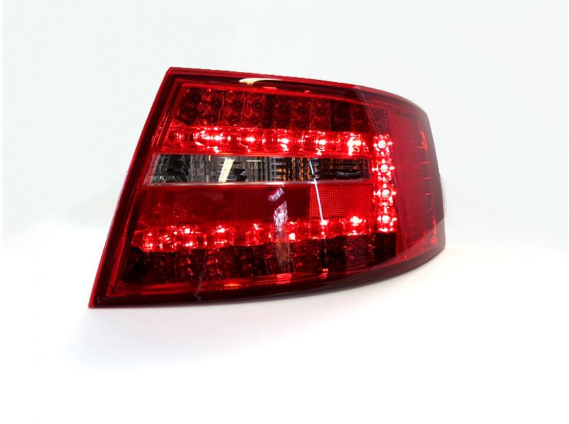 Комплект тунинг LED стопове за Audi A6 2004-2008 седан с бял мигач , ляв и десен 4