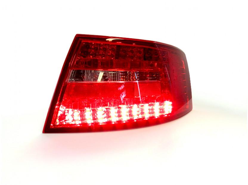 Комплект тунинг LED стопове за Audi A6 2004-2008 седан с бял мигач , ляв и десен 5