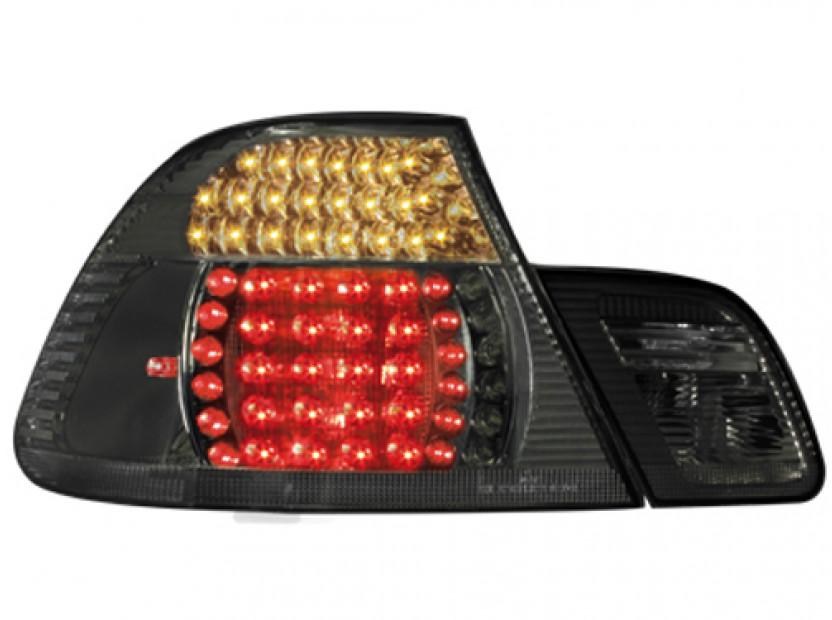 Комплект тунинг LED стопове за BMW серия 3 Е46 1999-2003 купе с черна основа , ляв и десен 2