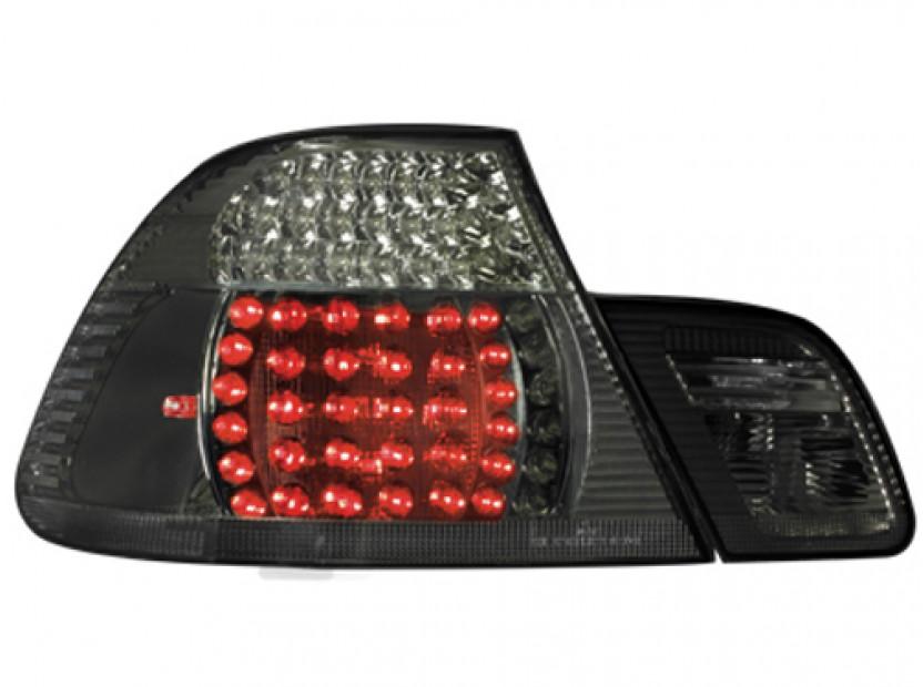 Комплект тунинг LED стопове за BMW серия 3 Е46 1999-2003 купе с черна основа , ляв и десен 6