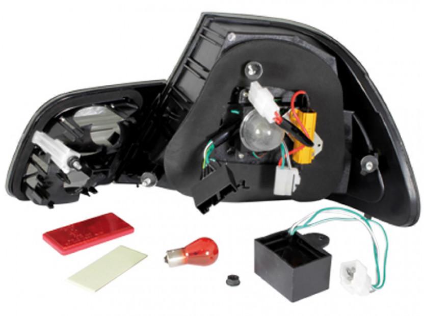 Комплект тунинг LED стопове за BMW серия 3 Е46 1999-2003 купе с черна основа , ляв и десен 3