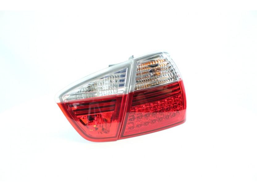 Комплект тунинг LED стопове за BMW серия 3 E90 2005-2008 седан с бял мигач , ляв и десен 3