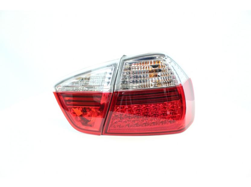Комплект тунинг LED стопове за BMW серия 3 E90 2005-2008 седан с бял мигач , ляв и десен