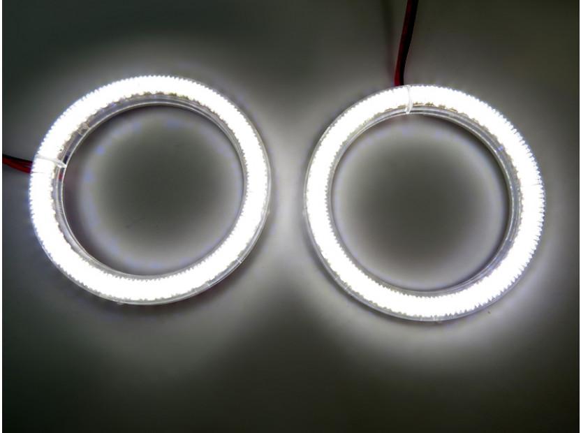 Бели LED Универсални ангелски очи autopro 80мм 5