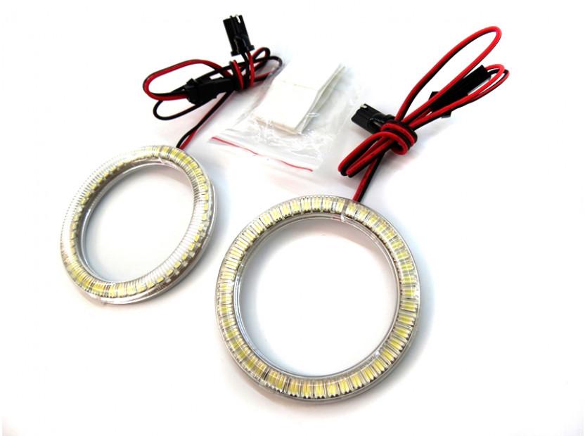Бели LED Универсални ангелски очи autopro 80мм 2