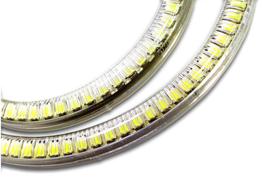 Бели LED Универсални ангелски очи autopro 80мм 6