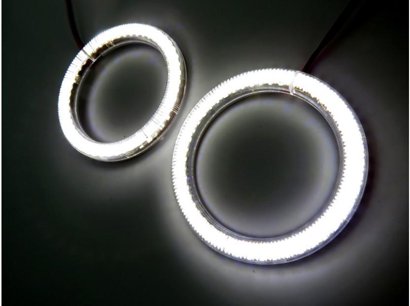 Бели LED Универсални ангелски очи autopro 80мм 3