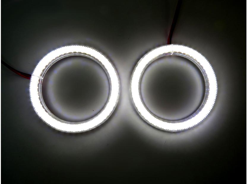 Бели LED Универсални ангелски очи autopro 80мм 4