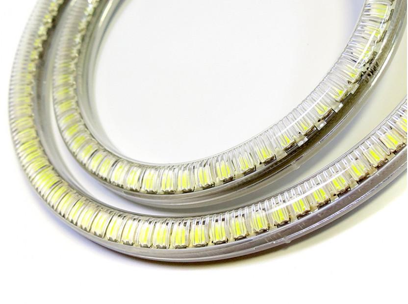 Бели LED Универсални ангелски очи autopro 80мм 7
