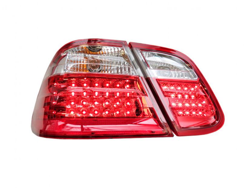 Комплект тунинг LED стопове за Mercedes CLK клас C208 1997-2002 с бял мигач , ляв и десен 2