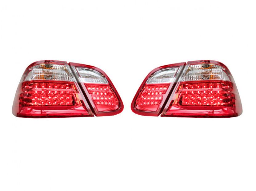 Комплект тунинг LED стопове за Mercedes CLK клас C208 1997-2002 с бял мигач , ляв и десен