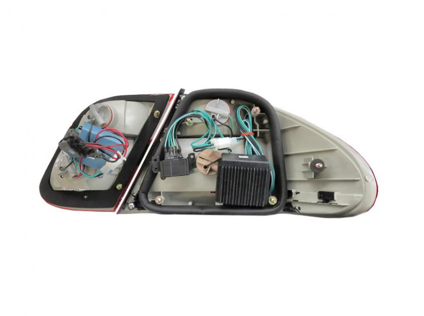 Комплект тунинг LED стопове за Mercedes CLK клас C208 1997-2002 с бял мигач , ляв и десен 4