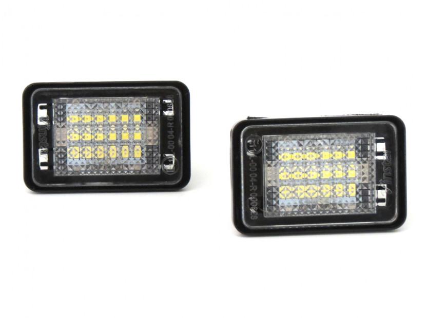 Комплект LED плафони за регистрационен номер за Mercedes GLK 2007-2013, ляв и десен 5