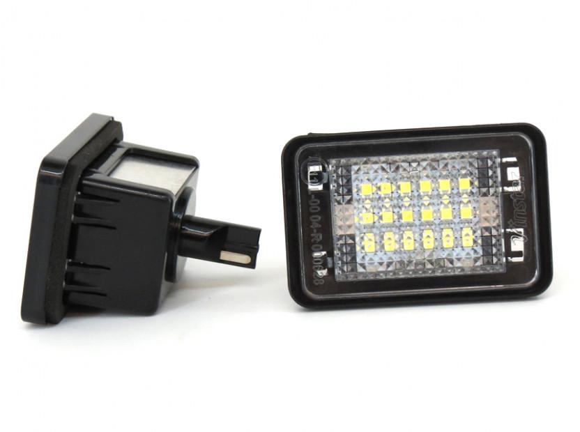 Комплект LED плафони за регистрационен номер за Mercedes GLK 2007-2013, ляв и десен 7