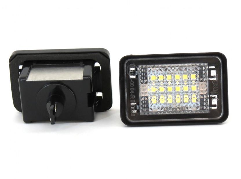 Комплект LED плафони за регистрационен номер за Mercedes GLK 2007-2013, ляв и десен 6