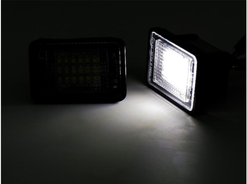 Комплект LED плафони за регистрационен номер за Mercedes GLK 2007-2013, ляв и десен 4